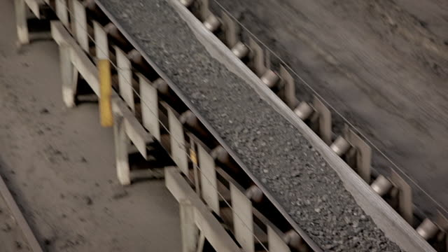 processed coal on conveyor belt - close up - belt stock videos and b-roll footage