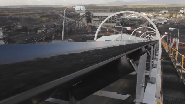 processed coal on conveyor belt - coal stock videos & royalty-free footage