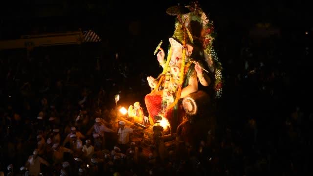 Procession of Lord Ganesha. Amravati, India.