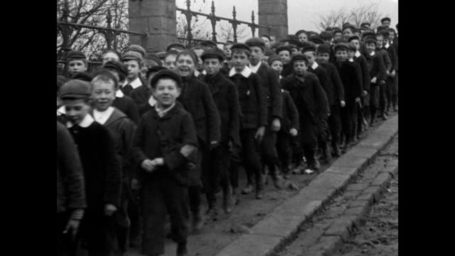 procession of rotherham school children, 1902 - edwardian style stock videos & royalty-free footage