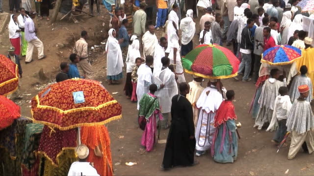 ms ha procession of timka, ethiopian orthodox celebration of epiphany, addis ababa, ethiopia - äthiopien stock-videos und b-roll-filmmaterial