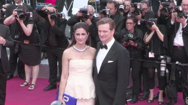 Producer and actor Colin Firth and his wife Livia on the red carpet for the Premiere of Loving at the Cannes Film Festival 2016 Monday 16th May 2016...