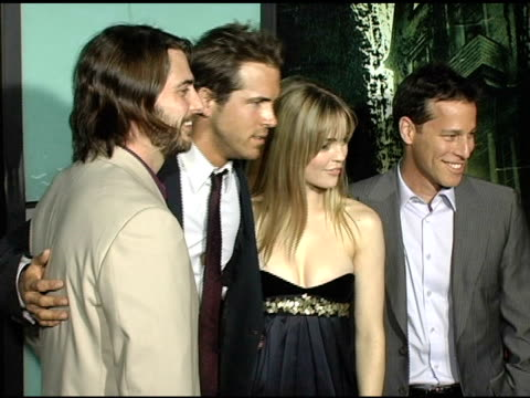 producer andrew form ryan reynolds melissa george and producer brad fuller at the 'amityville horror' worldwide premiere at the cinerama dome at... - melissa george stock videos & royalty-free footage