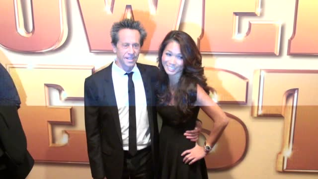 producer brian grazer and guest attend the tower heist premiere at the ziegfeld theater in new york on 10/24/11 - プロデューサー点の映像素材/bロール