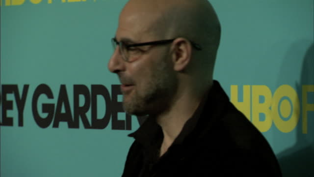 HD Producer director Stanley Tucci on carpet at Ziegfeld Theater posing for press photographs