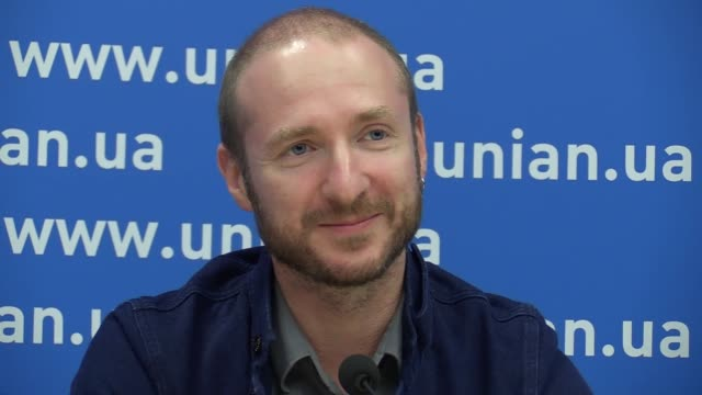 producer igor tarnopolsky speaks during a press conference and premiere for journalists the song 1944 in kievukraine21 september2016 world premiere... - 61st eurovision song contest stock videos and b-roll footage