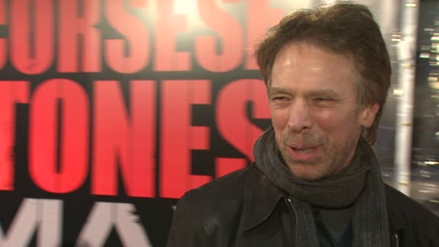 Producer Jerry Bruckheimer says he�s here for both The Rolling Stones and Martin Scorsese at the Premiere of Shine A Light at the Ziegfeld Theatre in...