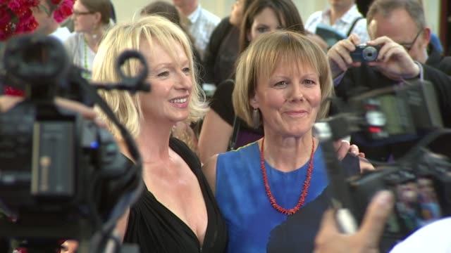 producer judy craymer and director phyllida lloyd at the mamma mia premiere at london - mamma mia stock videos and b-roll footage