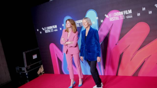 "producer sharon horgan and director phyllida lloyd attend the ""herself"" premiere during the 64th bfi london film festival at bfi southbank on october... - bfi southbank stock videos & royalty-free footage"