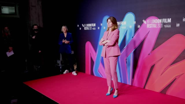 "producer sharon horgan attends the ""herself"" premiere during the 64th bfi london film festival at bfi southbank on october 08, 2020 in london,... - bfi southbank stock videos & royalty-free footage"