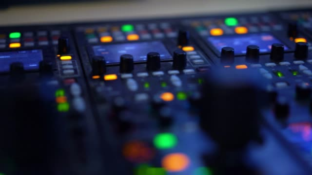 producer working with control desk in studio - television industry stock videos & royalty-free footage