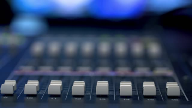 producer working with control desk in studio - radio studio stock videos & royalty-free footage