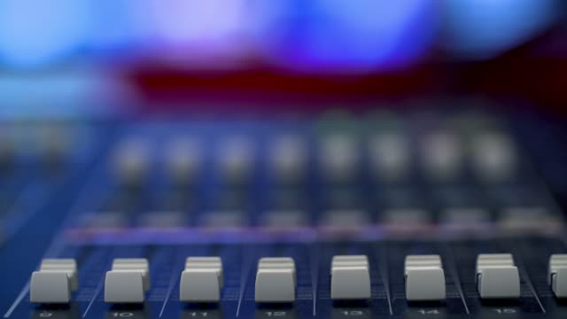 producer working with control desk in studio - awards ceremony stock videos & royalty-free footage