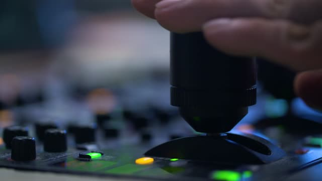 producer working with control desk in studio - control room stock videos & royalty-free footage