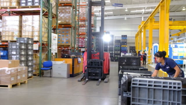 production line at isgo manufacturing factory, san luis potosi, mexico, on monday, july 8, 2019. - machine part stock videos & royalty-free footage