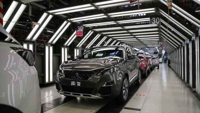production line at psa automobiles sa plant in sochaux france on friday april 5 2019 - psa stock videos & royalty-free footage
