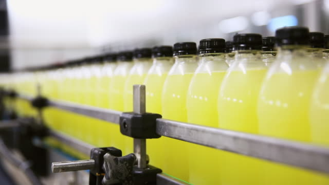 production line of carbonated drinks - food and drink industry stock videos & royalty-free footage