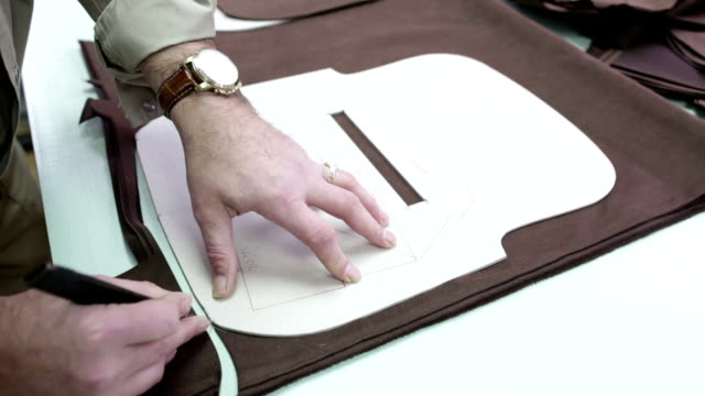 production of fashion accessories - leather stock videos and b-roll footage
