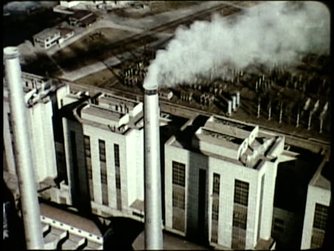 1963 montage production of giant power generators and turbines / japan - showa period stock videos & royalty-free footage