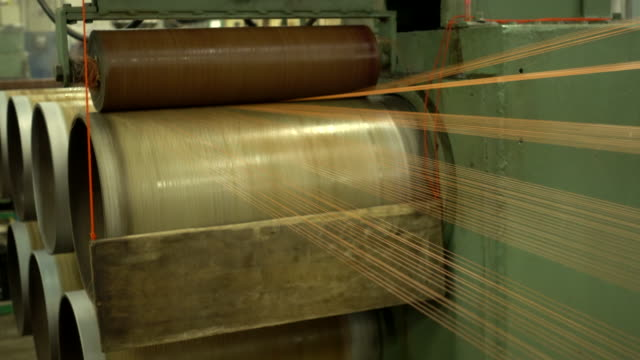 production of nylon thread in a factory - cotton stock videos & royalty-free footage