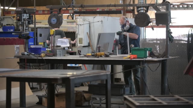 production of voting boxes in laserfab inc., in puyallup, washington, u.s., on monday, august 17, 2020. - place of work stock videos & royalty-free footage