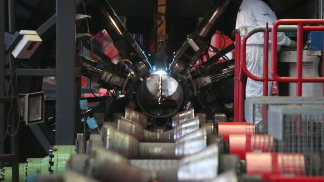 production of welded tubes at the chelyabinsk pipe rolling plant pjsc, part of chelpipe group, in chelyabinsk, russia, on monday, february 17, 2020.... - plant process stock videos & royalty-free footage
