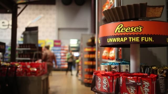 Products are displayed in a store at the Hershey Company manufacturing plant in Hershey Pennsylvania US on Tuesday Nov 28 2017 Photographer Luke...
