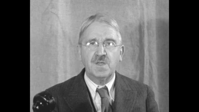 prof john dewey sitting at desk gives speech urging creation of world conference to discuss repayment by european countries of war debt owed from wwi... - philosopher stock videos & royalty-free footage