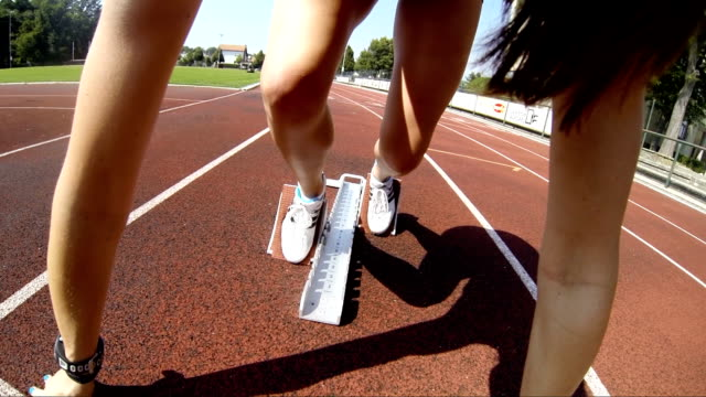 hd: professional athlete hurdling - sports track stock videos and b-roll footage