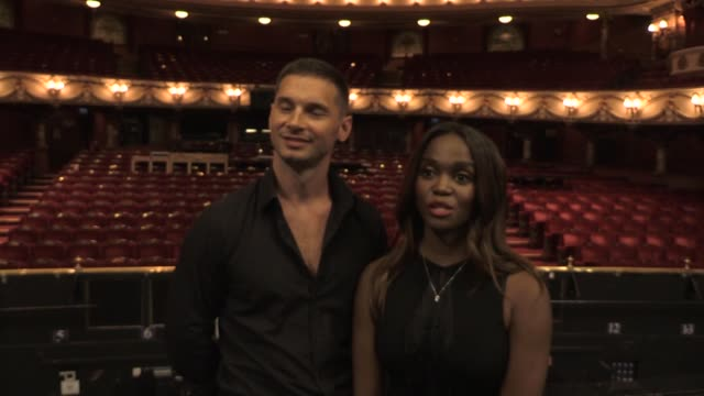 """professional ballroom dancer oti mabuse says she is """"really excited"""" to be performing in strictly come dancing 2020 while preparing for her own 2021... - ストリクトリーカムダンシング点の映像素材/bロール"""