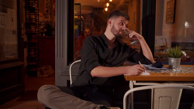 professional barista taking a break and devising new recipes for the perfect coffee - barista stock videos & royalty-free footage