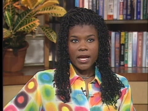"stockvideo's en b-roll-footage met professional basketball player sheryl swoopes discusses her autobiography ""bounce back"". - sport"