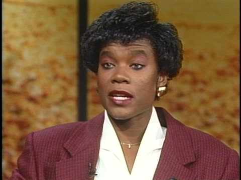 stockvideo's en b-roll-footage met professional basketball player sheryl swoopes says she is honored to be nominated for a women's sports foundation award. - sport