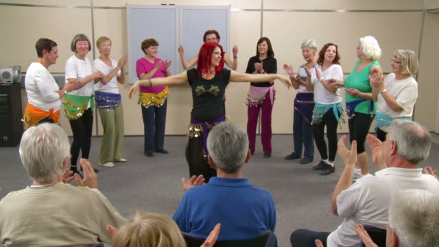 hd: professional belly dancing performance - community center stock videos and b-roll footage