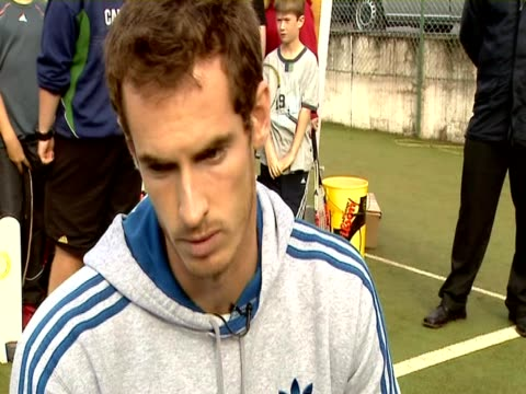 Professional British tennis player Andy Murray talks about the support he has from his hometown Dunblane