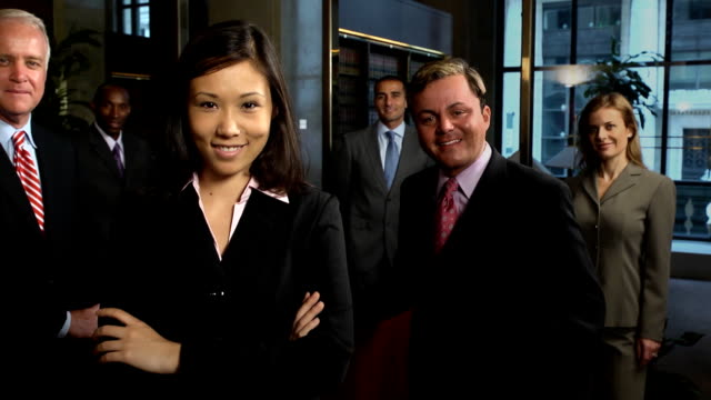 professional business team - asian female - suit stock videos & royalty-free footage