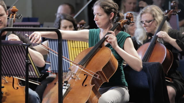professional cellist at work - cellist stock videos & royalty-free footage