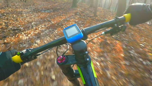 POV Professional cyclist in slow motion.