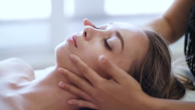 professional facial massage - facial massage stock videos and b-roll footage