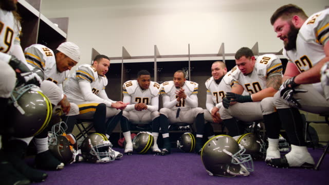 ms ds la professional football team in locker room before game - locker stock videos and b-roll footage