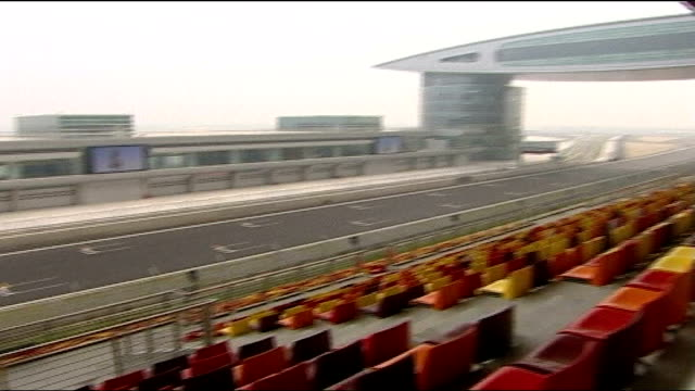 professional footballer charged with dangerous driving; northamptonshire: silverstone racetrack: ext general view of stands m6 motorway: traffic... - silverstone stock videos & royalty-free footage