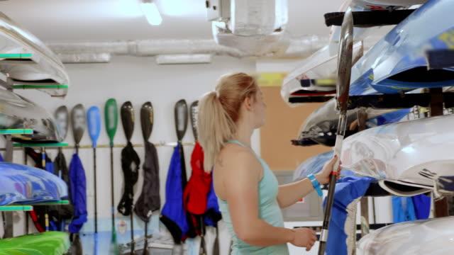 professional kayaker training - genderblend stock videos & royalty-free footage