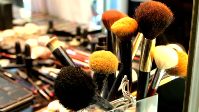 professional makeup brush set - fashion show stock videos & royalty-free footage
