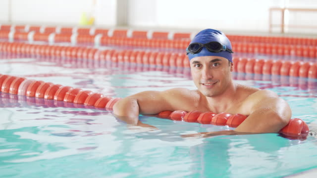 professional male swimmer - males stock videos & royalty-free footage