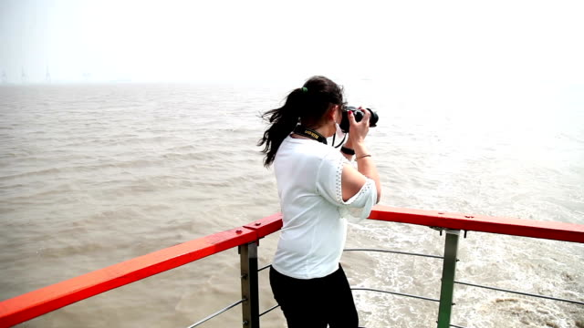Professional photographer on the Nautical Vessel
