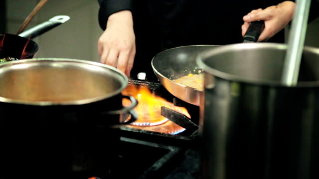 professional restaurant or hotel kitchen - commercial kitchen stock videos & royalty-free footage