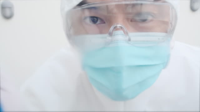 professional staff cleaning - safety glasses stock videos & royalty-free footage