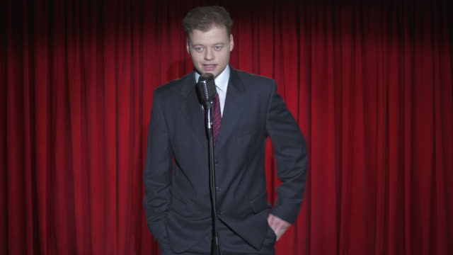 hd: professional stand up comedian - comedian stock videos & royalty-free footage