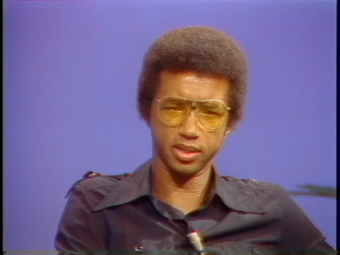 professional tennis player arthur ashe discusses his career. - sport stock videos & royalty-free footage