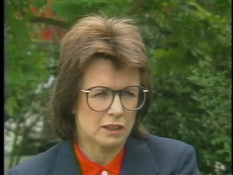 professional tennis player billie jean king discusses the dedication and practice it takes for young tennis players to become professionals. - healthcare and medicine or illness or food and drink or fitness or exercise or wellbeing stock videos & royalty-free footage